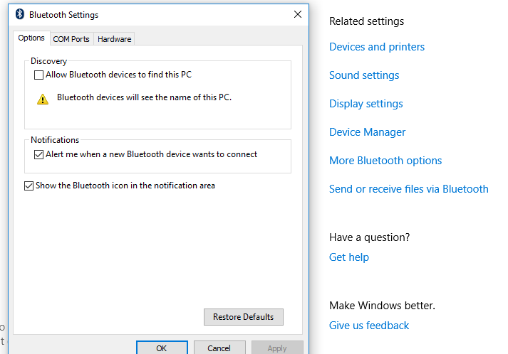 Fix Connections Bluetooth Audio Devices & Wireless Displays